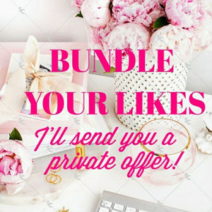 Like one item? Add to a bundle! I'll send an offer